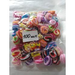 Ш1968 Резинки цветные для волос (100 штук)