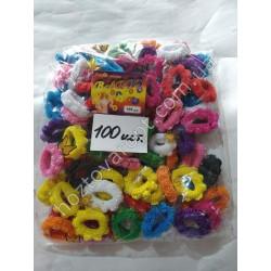Ш1971 Резинки для волос цветные (100 штук)