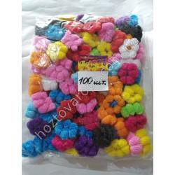 Ш1972 Резинки для волос цветные (100 штук)