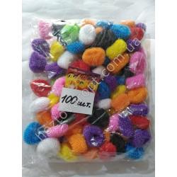 Ш1974 Резинки для волос цветные (50 штук)
