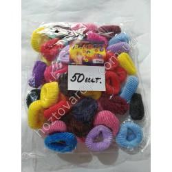 Ш1975 Резинки для волос цветные (50 штук)