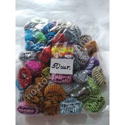 Ш1976 Резинки для волос цветные (50 штук)