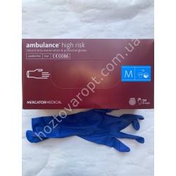 Ш2127 Медицинские перчатки Ambulance (М) 50 штук
