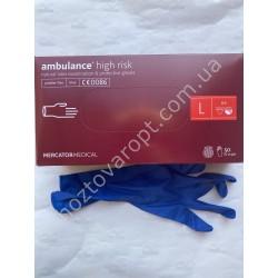 Ш2120 Медицинские перчатки Ambulance (L) 50 штук