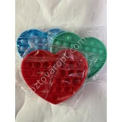 Ш2138 Поп ит игрушка-антистресс однотонная сердце
