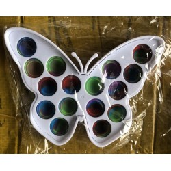 Ш2146 Поп ит игрушка-антистресс цветная на пластмассе Бабочка