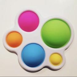 Ш2148 Поп ит игрушка-антистресс цветная на пластмассе Шары