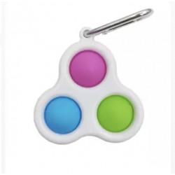 Ш2153 Поп ит игрушка-антистресс цветная на пластмассе на брелке (3)