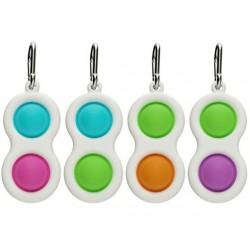 Ш2154 Поп ит игрушка-антистресс цветная на пластмассе на брелке (2)